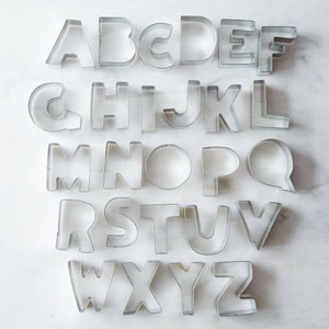cookie cutter alphabet letters