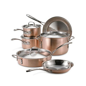 copper pans and pots