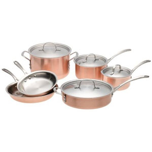 copper pans set