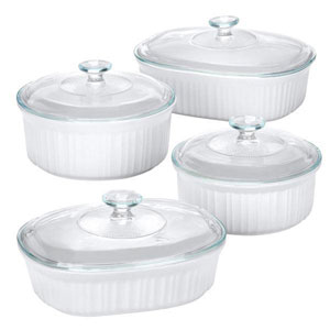 corelle casserole dishes with lids
