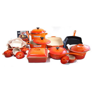 cast iron enamel coated cookware