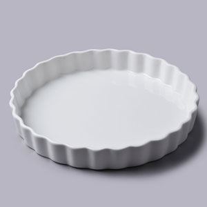 flan dish with cover