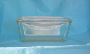 glass meatloaf pan with lid