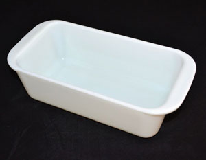 glass loaf pan with cover