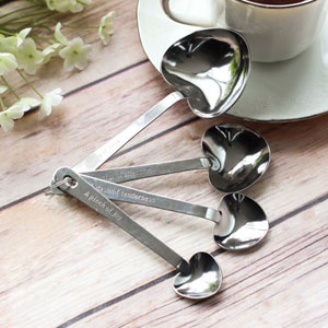 Kate Aspen Only Elegant Love Beyond Measure Heart Shaped Measuring Spoons.