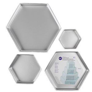 hexagon cake pans 3 deep