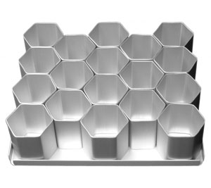 hexagon cake pan set