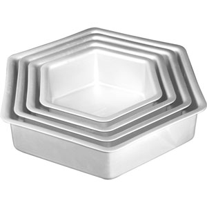 wilton hexagon cake pans
