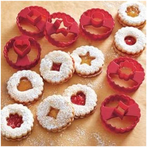 christmas linzer cookie cutters