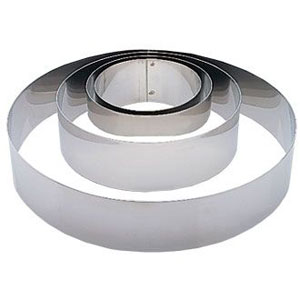 AMW 6pcs/set Stainless Steel Full Cake Tin Mousse Ring Kitchen Baking Tools.