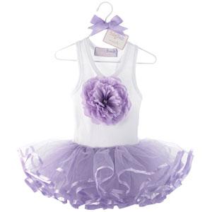 Mud Pie Pet Girls Overall Tutu Dress
