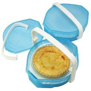 two tier pie carrier