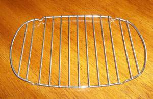 oval roasting rack with handles