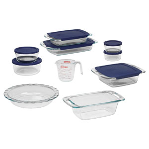 17 piece pyrex baking set